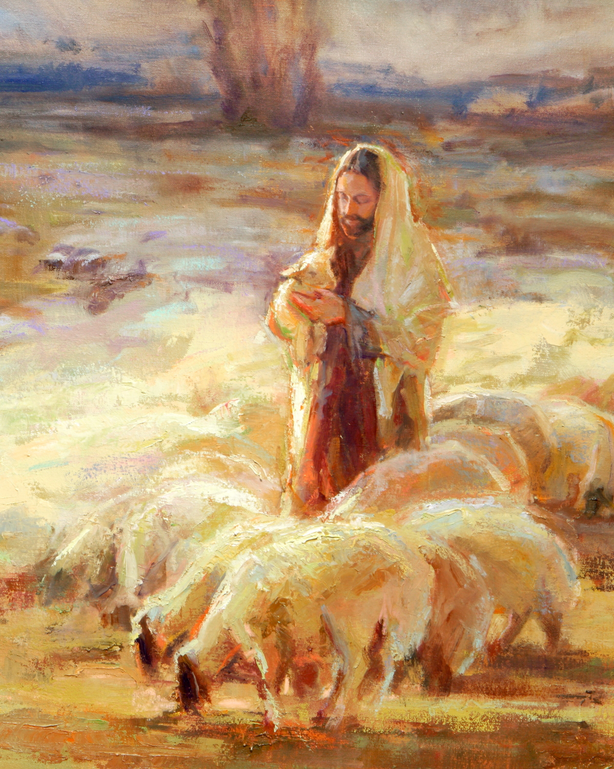 Savior and the Lamb Cropped